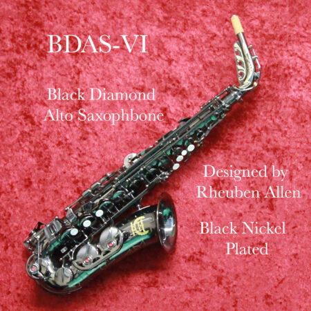 Black diamond Alto Saxophone Banner