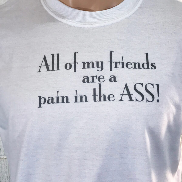 All My Frienda are a Pain in hte Ass!