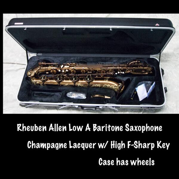 Rheuben Allen Champagne Low A Baritone Saxophone