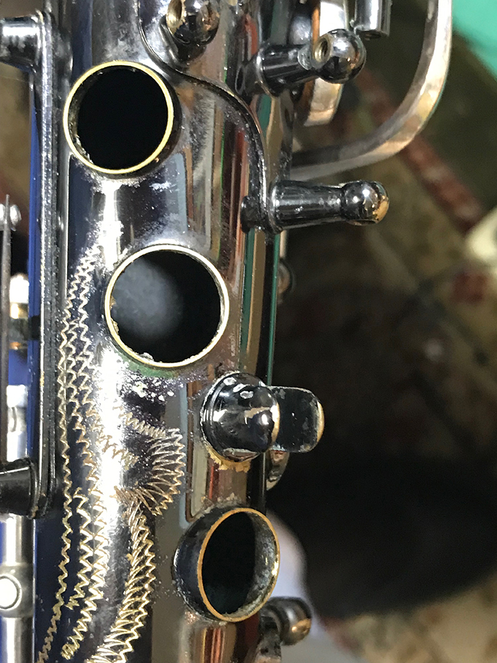 B&S Saxophone small palm key tone holes