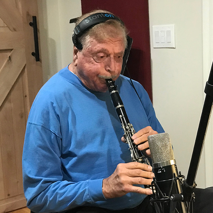 Cip recording with the Hollywood Clarinet Quartet