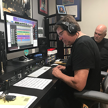 Wayne & Greg recording Cip
