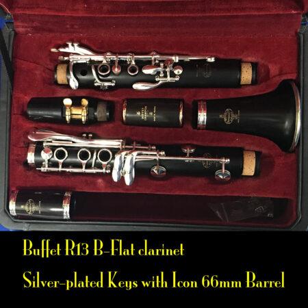 Buffet R13 B-Flat Clarinet with Silver-plated keys