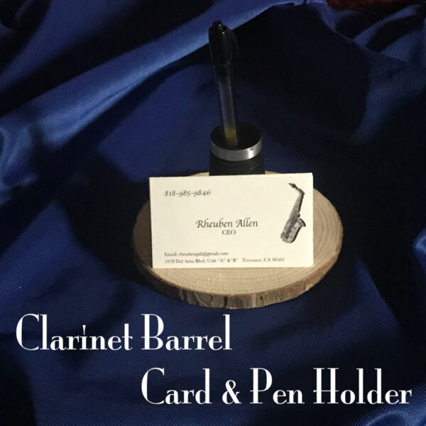 Clrinet Barrel Card and Pen Holder 1