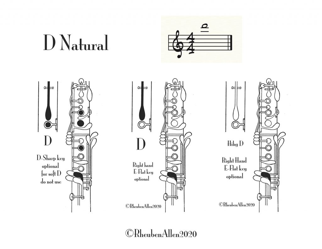 D Above the Staff for Clarinet