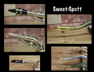 Sweet-Spott Ad for alto and tenor saxophone necks.. better intonation