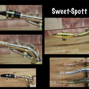 Sweet-Spott Ad for alto and tenor saxophone necks.. better intonation