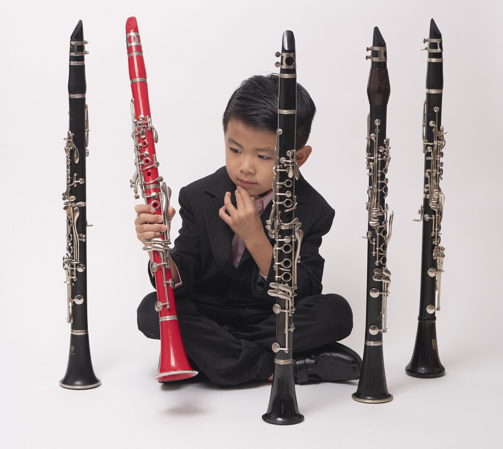 You're never too young to start playing the clarinet
