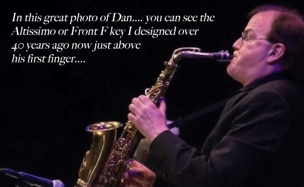 Dan Higgins with the RHEUBEN ALLEN FRONT F KEY